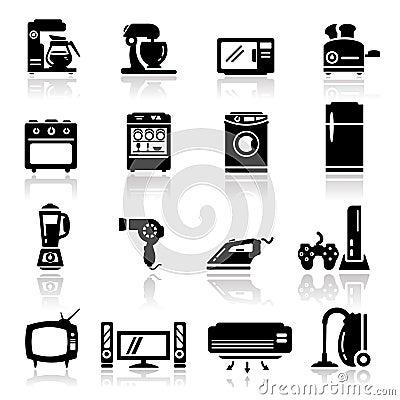 Le icone hanno impostato gli elettrodomestici fotografie - Immagini di elettrodomestici ...