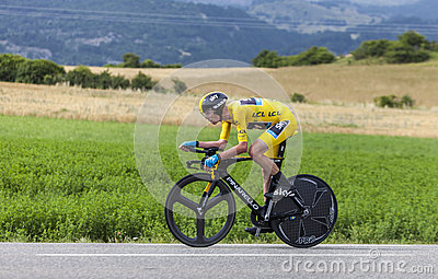 Le Jersey jaune Christopher Froome Photographie éditorial