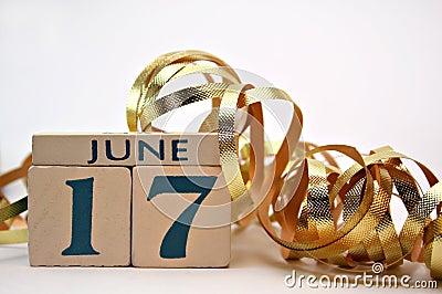 Le jour de père, 17 juin