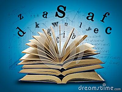 Le livre magique et les lettres