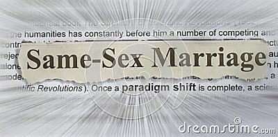 Le même mariage de sexe