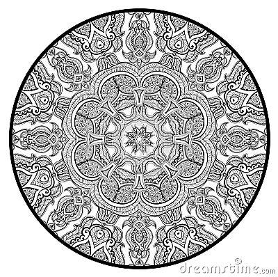 Le mod le rond ornemental de dentelle aiment le mandala - Modele de mandala ...