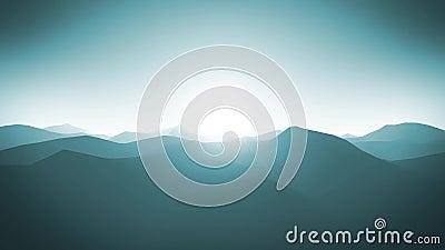 Le montagne abbelliscono il ciclo del fondo della siluetta video d archivio