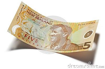 Le Nouvelle-Zélande argent des cinq dollars