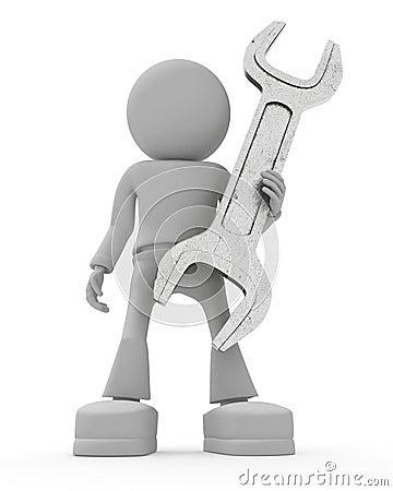 Le persone mantiene la chiave