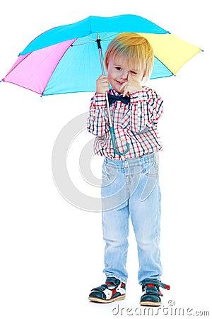 petits enfants sous le parapluie color images stock image 33988354 - Parapluie Color