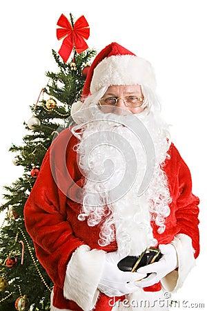 Le père noël avec l arbre de Noël