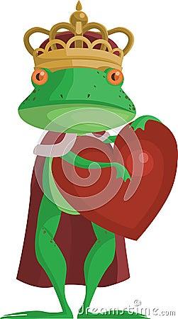 Le prince de grenouille avec un coeur