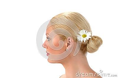 Le profil de la belle fille