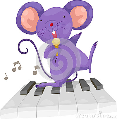 Le rat chantent le vecteur