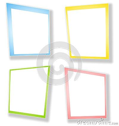 Le rectangle abstrait encadre des cadres
