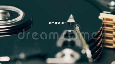 Le responsable du disque dur de l'ordinateur révèle le mot PROGRAMME clips vidéos