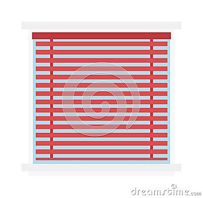 Le rideau en fond de volet de jalousie de fen tre aveugle for Jalousie de fenetre