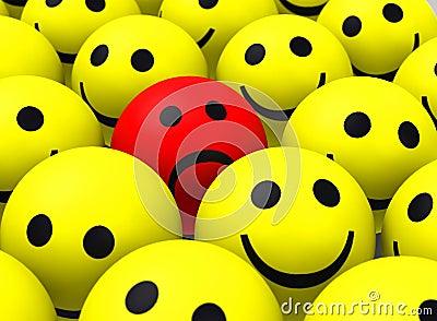 foto de Le Smiley Rouge Illustration Stock Image: 50495668
