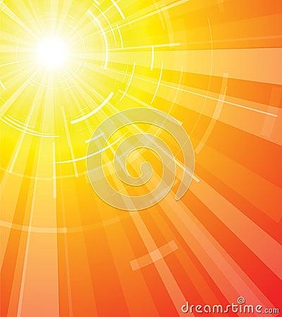 Le Soleil Chaud D'été Photos libres de droits - Image: 4544138