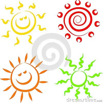 Le soleil de graphismes