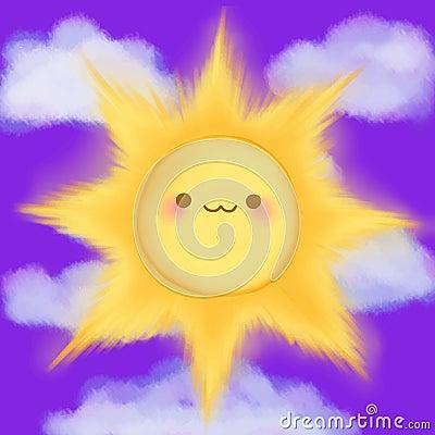 **  LE PASSAGE JOURNALIER ** - Page 5 Le-soleil-de-sourire-de-bande-dessine-mignonne-opacifie-le-manga-d-anime-de-kawaii-de-ciel-62206758