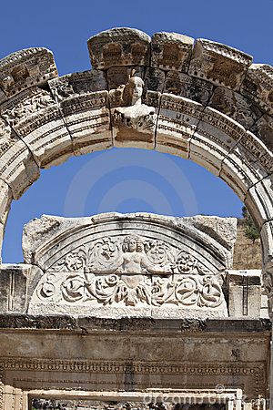 Le temple de Hadrian, Ephesus, Izmir, Turquie