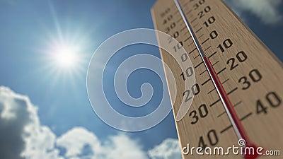 Le thermomètre extérieur atteint 5 cinq degrés centigrade Les prévisions météorologiques ont rapporté l'animation 3D clips vidéos