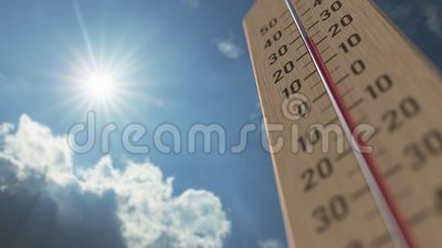 Le thermomètre extérieur atteint 40 quarante degrés centigrade Les prévisions météorologiques ont rapporté l'animation 3D clips vidéos