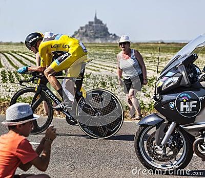Le Tour de France Action Editorial Image