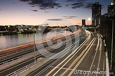 Le trafic d heure de pointe de Brisbane