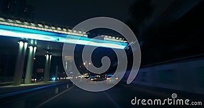 Le trafic laps de temps en Chine, Shenzhen banque de vidéos