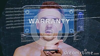 Le type agit l'un sur l'autre garantie d'hologramme de HUD banque de vidéos