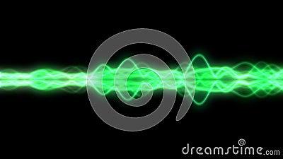 Le vert a coloré la forme d'onde audio moderne de spectre de mètre de vu - boucle illustration libre de droits