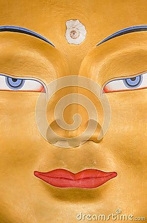 Le visage de Bouddha