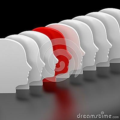 Le visage rouge et blanc rendent illustration stock image 63690757 - Le rouge et le blanc ...