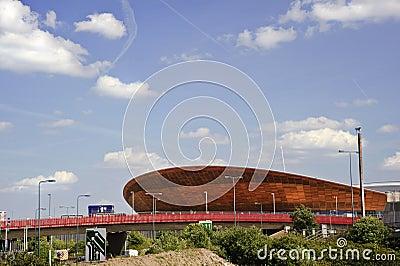 Le vélodrome 2012 de Jeux Olympiques de Londres est terminé Image éditorial