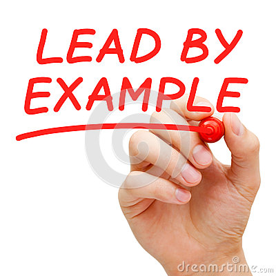 Free Lead By Example Royalty Free Stock Photography - 29834537