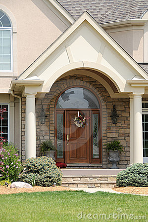 Free Leaded Glass And Wood Entry Door Stock Images - 5586494