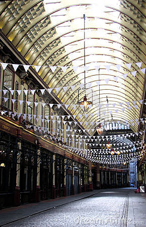 Leadenhall Market in London Editorial Photo