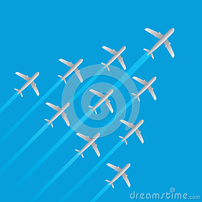 Leader airplane jet flying arrow model isolated vector