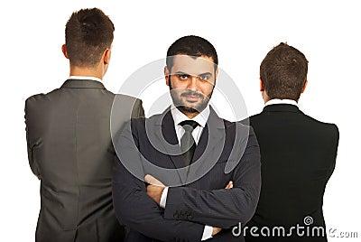 Leader business man