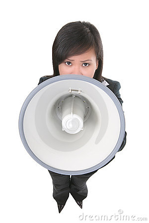 Leader (Focus on Megaphone)