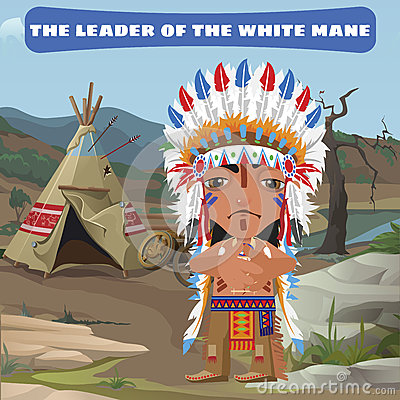 Free Leader Indian, Camp In The Wild Landscape Royalty Free Stock Photo - 62758995