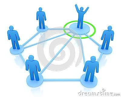 Leader is managing his work team.