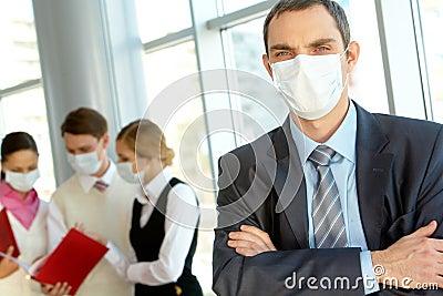 Leader in mask