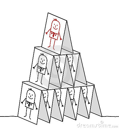 Leadership & cards pyramid