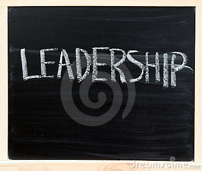 Leadership on chalkboard