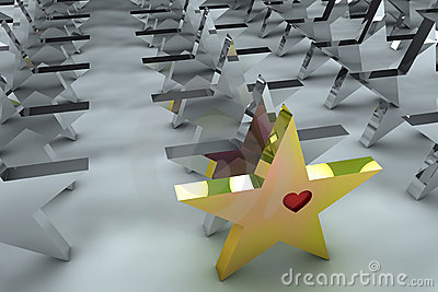 Leadership concept in 3d