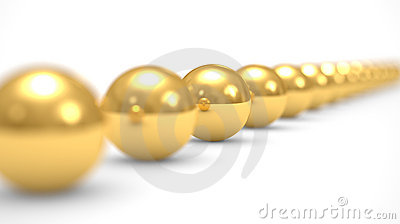 Leadership concept, gold balls