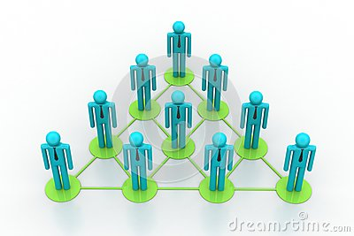 Leadership concept, leader and team