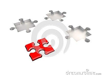 Leadership puzzle concept