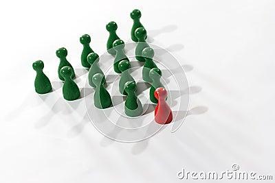 Leadership teamwork business concept