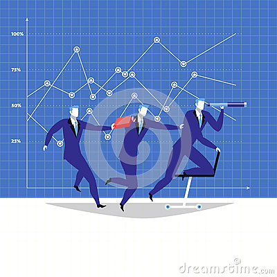 Leadership, teamwork concept vector illustration in flat style