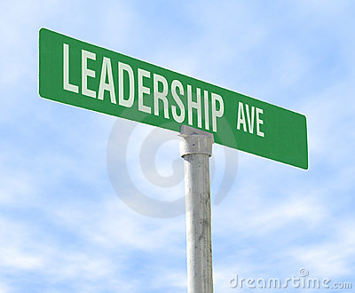 Leadership Themed Street Sign